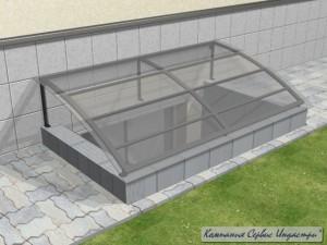 Тип 1_2Приямок облегченный с покрытием монолитного поликарбоната 6мм