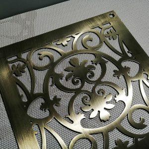 Латунные решетки с декоративным узором